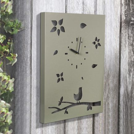 Milkcan-1054-bird-on-tree-clock-steel-woodland-hs-800px