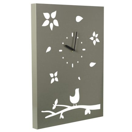 Milkcan-1054-bird-on-tree-clock-steel-woodland-main-800px