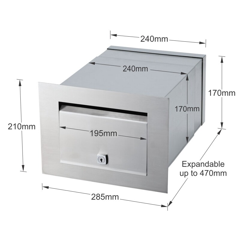 Milkcan-1861-STS-Palazzo-front-open-letterbox-stainless-steel-mailbox-dims-800px