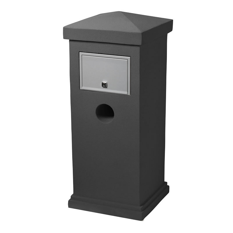Milkcan-840-Stirling-grey-concrete-pillar-letterbox-stainless-steel-back-800px