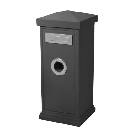 Milkcan-840-Stirling-grey-concrete-pillar-letterbox-stainless-steel-main-800px