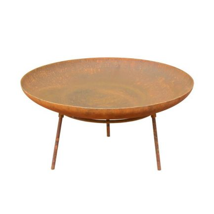 Milkcan-Morocco-60SR-Fire-pits-outdoor-rust-steel-planter-bowl-front-800px