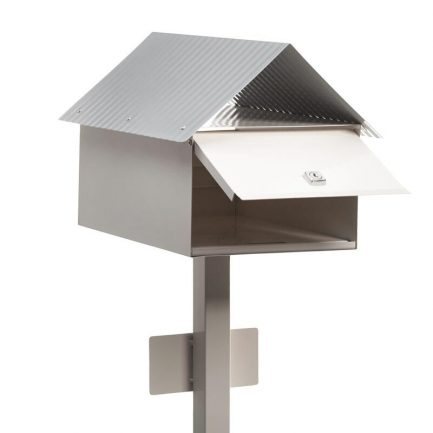 Milkcan-875-Avalon-freestanding-box-post-letterbox-cream-back-open-800px