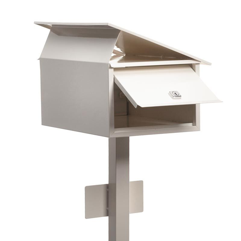 Milkcan-885-Flair-freestanding-box-post-letterbox-cream-back-open-800px
