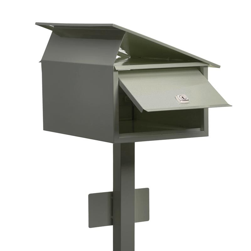 Milkcan-885-Flair-freestanding-box-post-letterbox-woodland-back-open-800px