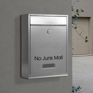 'No Junk Mail' Black Vinyl - 21mm x 180mm-5632