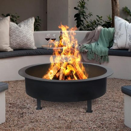Milkcan-F6085B-black-fire-pit-bowl-steel-main-800px