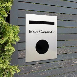 'Body Corporate' Vinyl - 16mm x160mm-6705