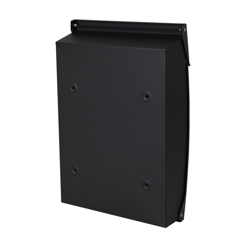 Milkcan-8591BLK-Canterbury-wallbox-black-letterbox-front-open-brick-back-800px