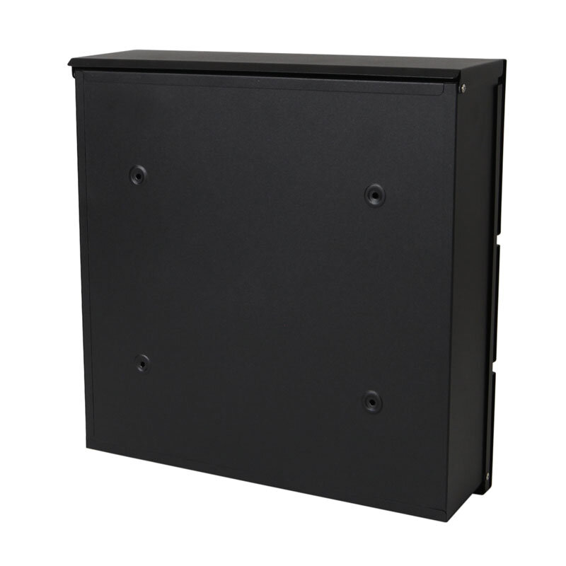 Milkcan-8592-Kensington-wallbox-letterbox-front-open-black-back-800px
