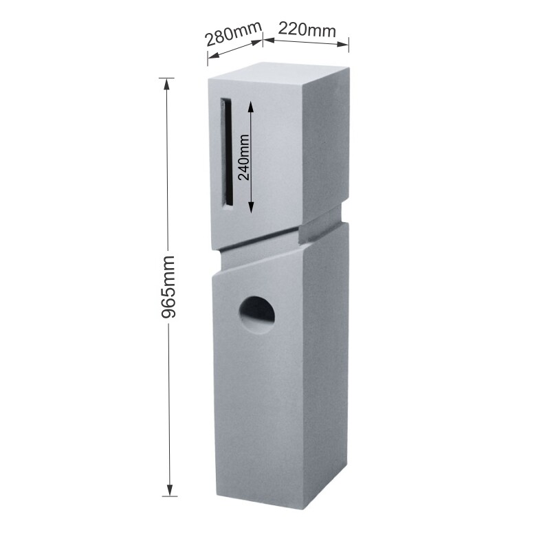 Milkcan-520-Spa-light-grey-concrete-pillar-letterbox-dims-800px