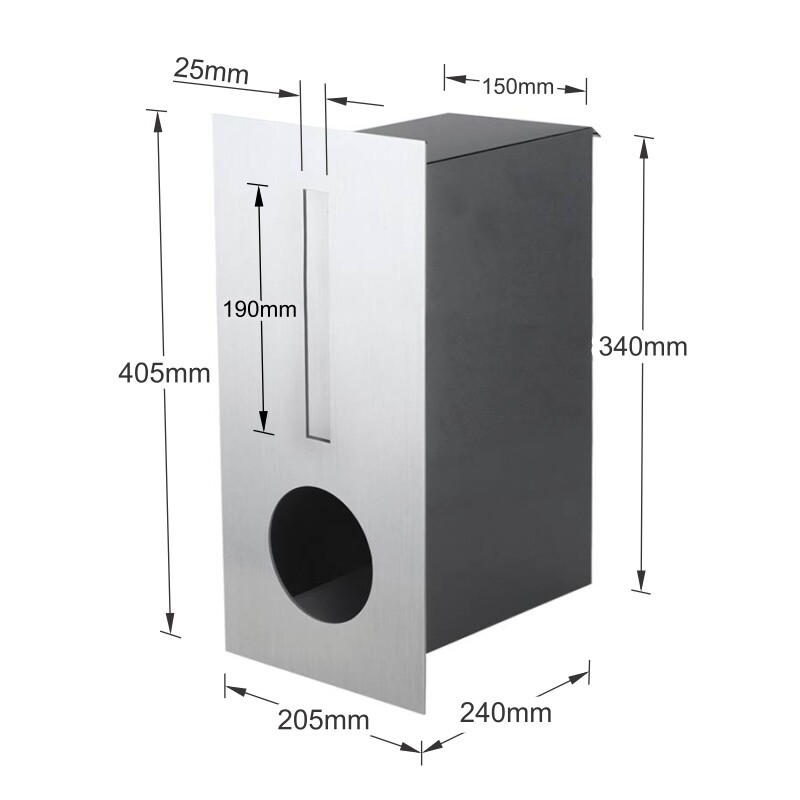 Milkcan-2341STS-Hendon-fence-letterbox-stainless-charcoal-dims-800px