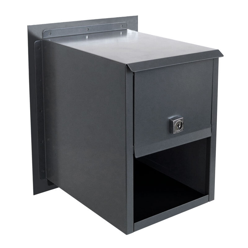 Milkcan-813-CHA-brick-fence-charcoal-powdercoated-letterbox-back-800px
