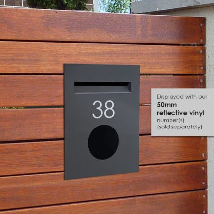 Milkcan-813-CHA-brick-fence-charcoal-powdercoated-letterbox-hs-800px