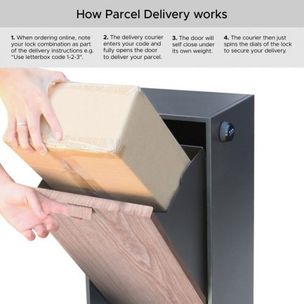 Milkcan-785CH-WN-Vienna-parcel-charcoal-bark-pillar-letterbox-package2-800px
