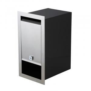 Milkcan-1471-STS-BLKS-Boston-fence-brick-stainless-black-letterbox-stainless-main-800px