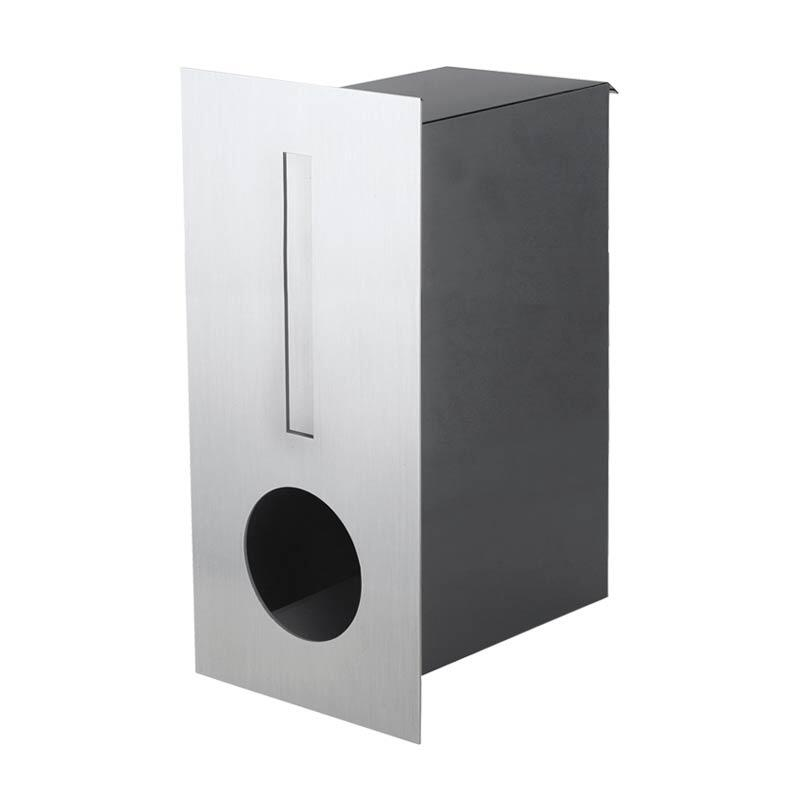 Milkcan-2341STS-Hendon-fence-letterbox-stainless-charcoal-main-800px