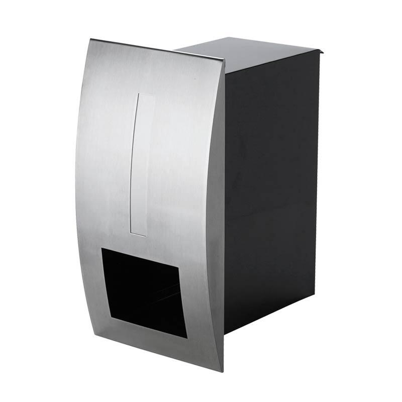 Milkcan-2361STS-Modena-fence-letterbox-stainless-black-main-800px