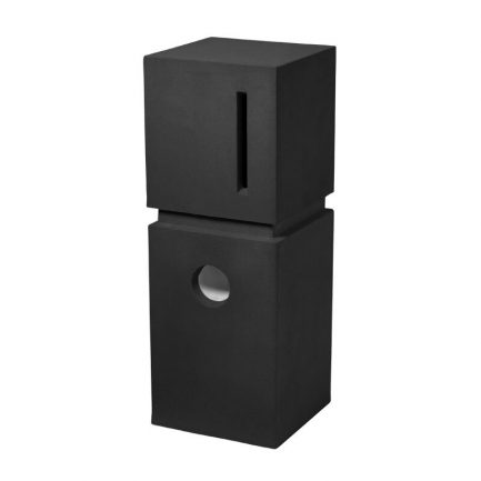 Milkcan-535-Ridge-black-concrete-pillar-letterbox-main-800px