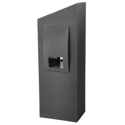 Milkcan-550-Monaco-grey-charcoal-concrete-pillar-stainless-steel-letterbox-main-800px