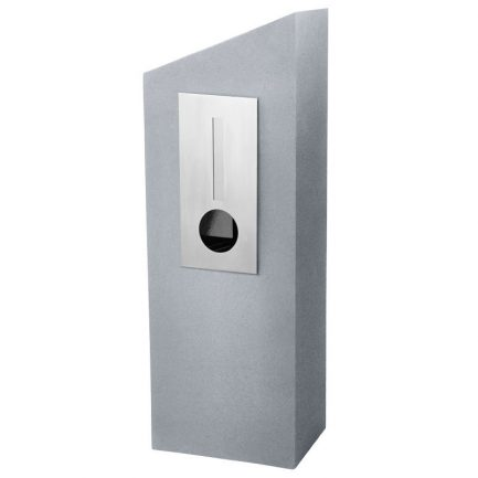 Milkcan-555-Barcelona-light-grey-concrete-pillar-stainless-steel-letterbox-main-800px