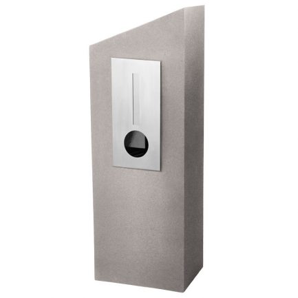 Milkcan-555-Barcelona-mocca-concrete-pillar-stainless-steel-letterbox-main-800px