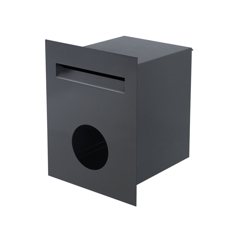 Milkcan-813-CHA-brick-fence-charcoal-powdercoated-letterbox-main-800px