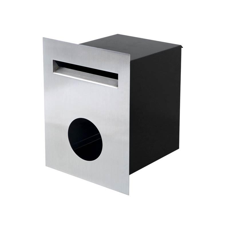 Milkcan-813STS-brick-fence-stainless-steel-black-letterbox-main-800px