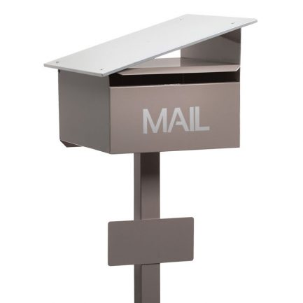 Milkcan-835-Sleek-freestanding-box-post-letterbox-latte-main-800px