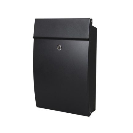 Milkcan-8591BLK-Canterbury-wallbox-black-letterbox-front-open-brick-main-800px