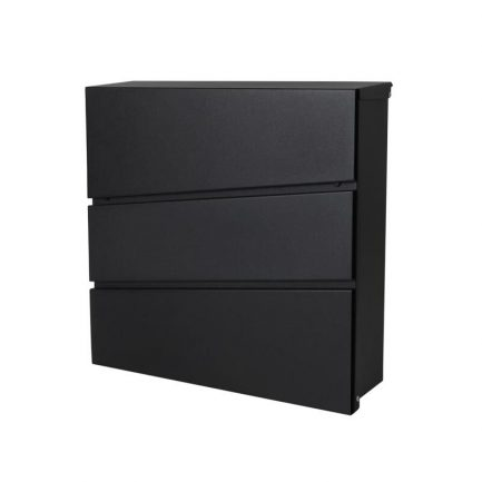Milkcan-8592-Kensington-wallbox-letterbox-front-open-black-800px