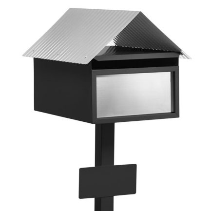 Milkcan-875-Avalon-freestanding-box-post-letterbox-black-main-800px