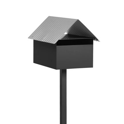 Milkcan-Economy-box-post-letterbox-galvanised-steel-freestanding-charcoal-main-800px