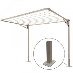 Milkcan-MCL13015-10-line-clothesline-taupe-ground-mount-2-main-800px