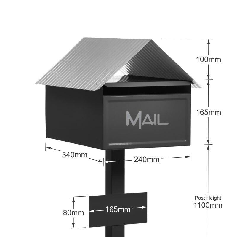 Milkcan-130-Valley-box-post-letterbox-galvanised-steel-freestanding-charcoal-dims-800px