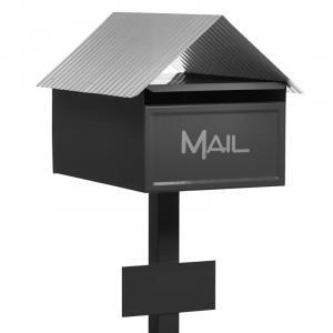 Milkcan-130-Valley-box-post-letterbox-galvanised-steel-freestanding-charcoal-front-800px