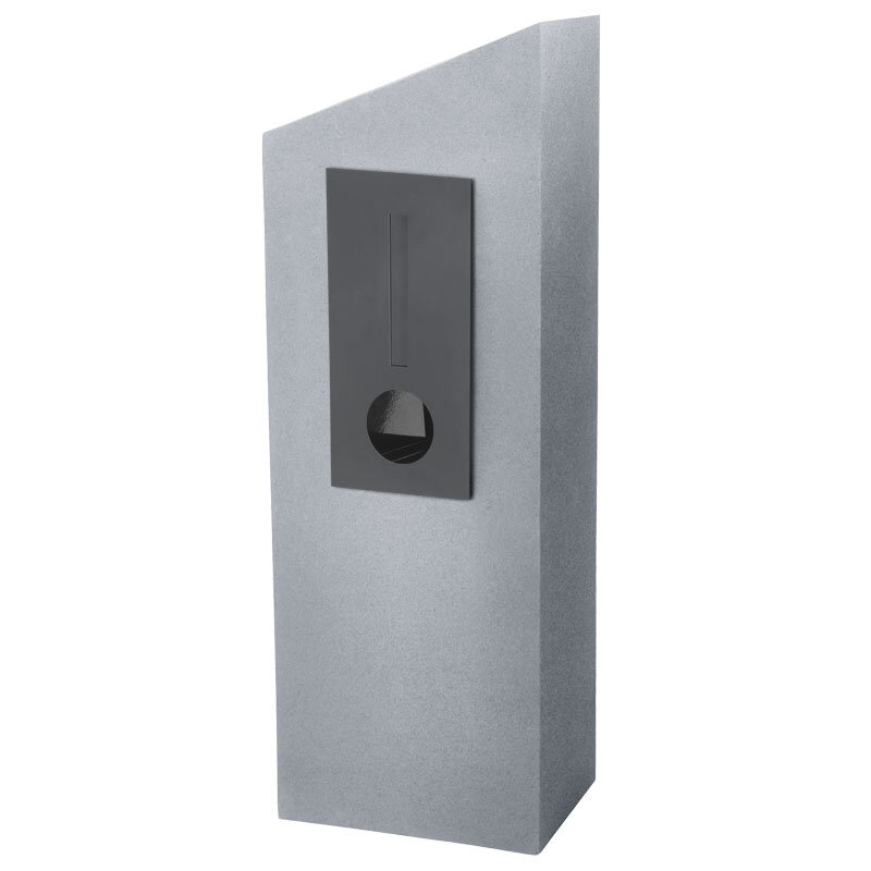 Milkcan-555-Barcelona-light-grey-charcoal-concrete-pillar-letterbox-main-800px