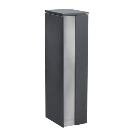 Milkcan-784-Camden-parcel-pillar-letterbox-mail-charcoal-316-stainless-front1-800px
