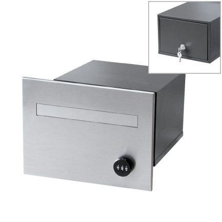 Milkcan-763F1SS-B1CH-torino-brick-parcel-letterbox-combo-stainless-charcoal-main2-800px