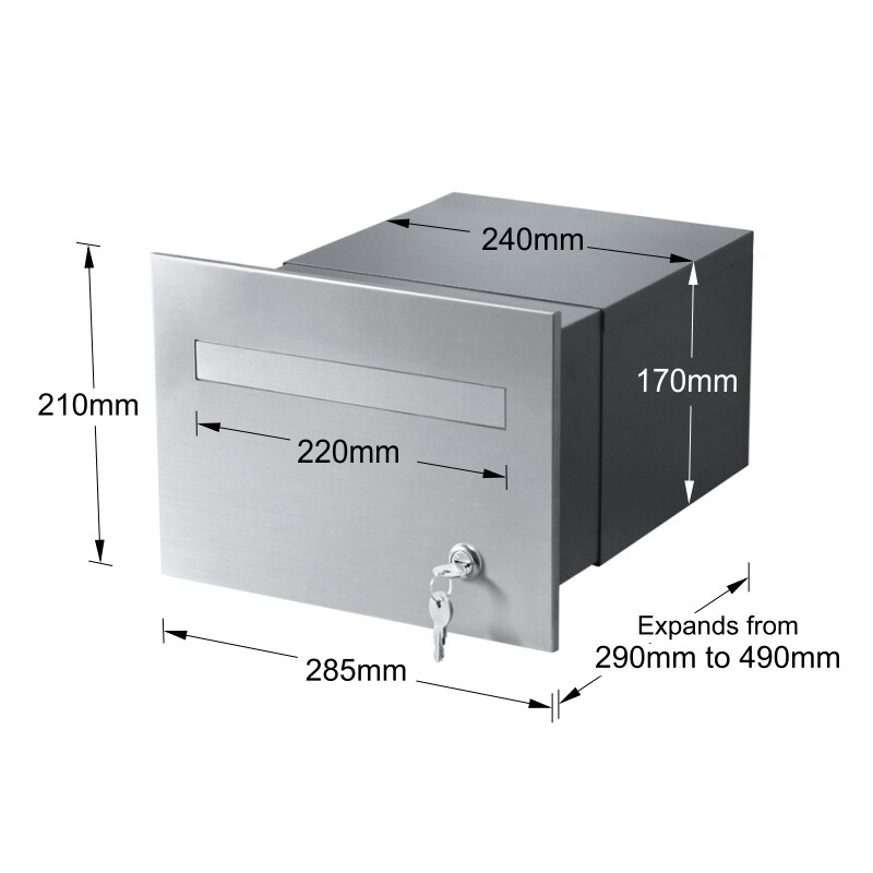 763F2SS-B3CH-torino-brick-parcel-letterbox-keylock-stainless-charcoal-dims-800px
