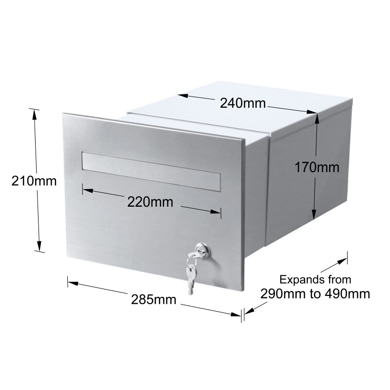 763F2SS-B3WH-torino-brick-parcel-letterbox-keylock-stainless-white-dims-800px