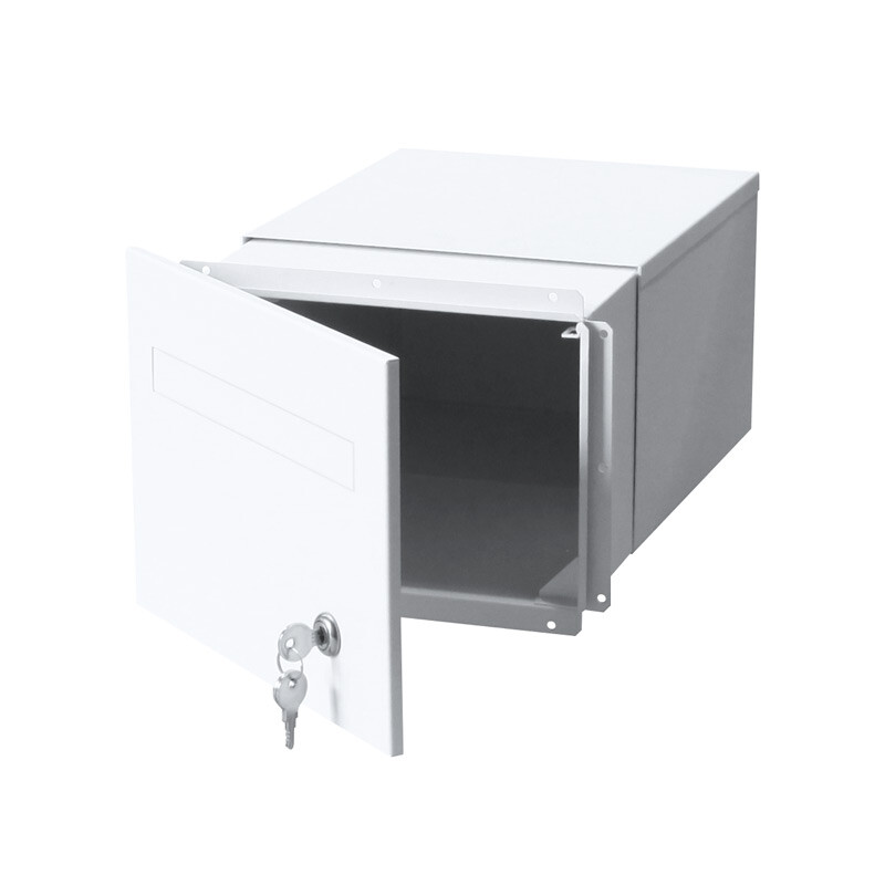 763F2WH-B3WH-torino-brick-parcel-letterbox-keylock-white-front-open-800px