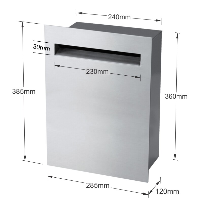 Milkcan-8092STS-Stroud-fence-letterbox-stainless-charcoal-dims-800px