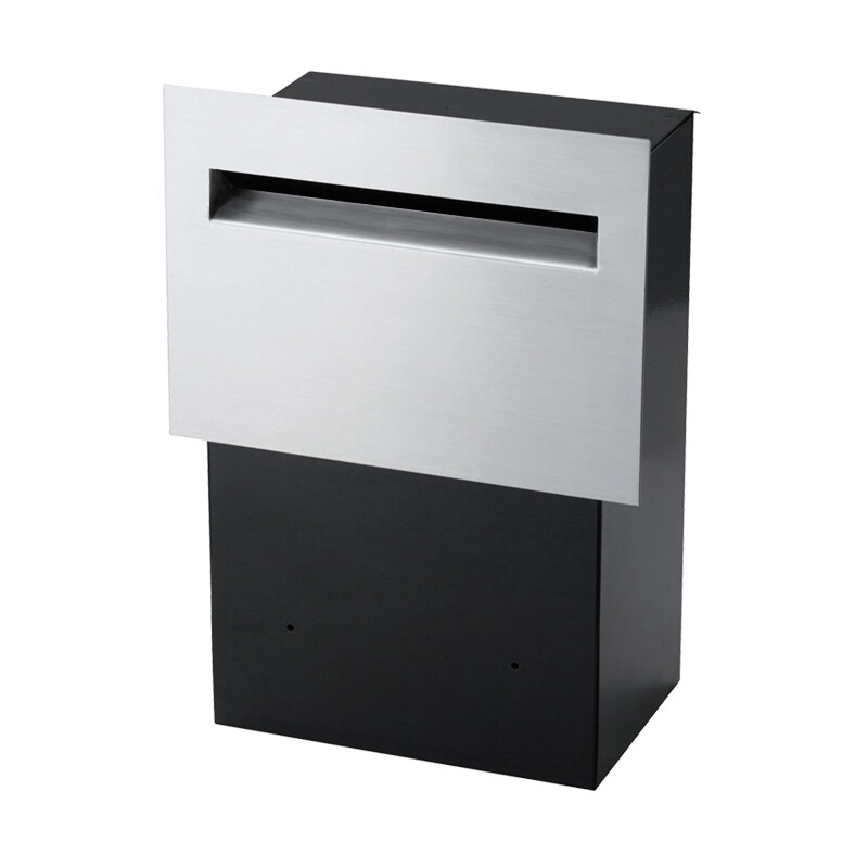 Milkcan-8102STS-Chelsea-fence-letterbox-stainless-black-main-800px