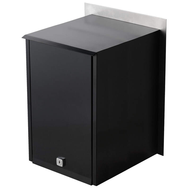 Milkcan-stroud-a4-fence-letterbox-stainless-black-back-800px