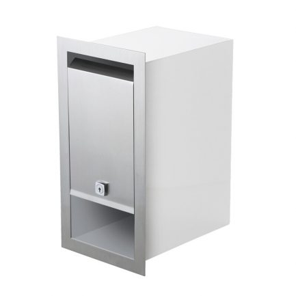 Milkcan-1471-STS-WHT-Boston-fence-brick-stainless-white-letterbox-stainless-main-800px