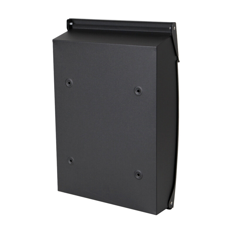 Milkcan-8591-Canterbury-wallbox-charcoal-letterbox-front-open-brick-back-800px